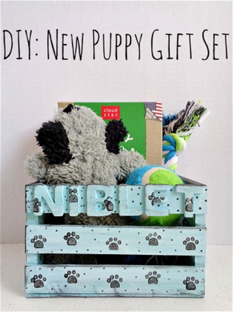 new puppy gifts diy new puppy gift set by running with a glue gun project home decor decorative