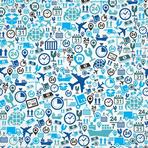 seamless pattern design software shipping logistic seamless pattern blue icon set b stock