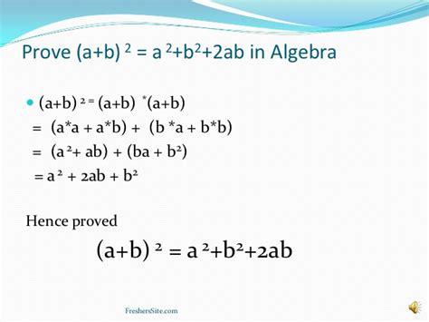 a b why is a b 2 a2 b2 2ab