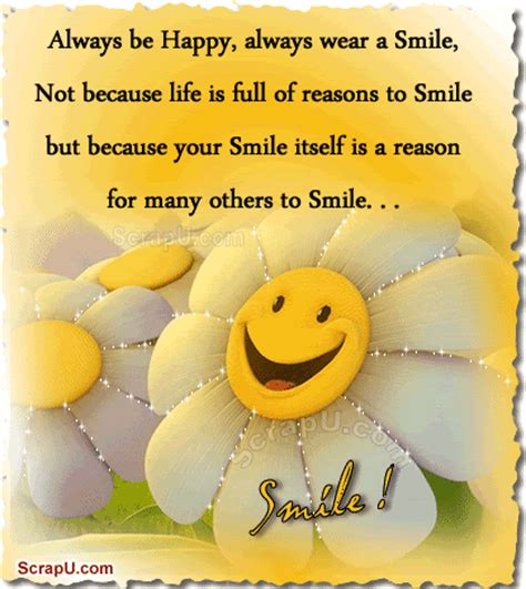 Happy Birthday Smile Quotes Always Be Happy Always Wear A Smile Pictures Photos