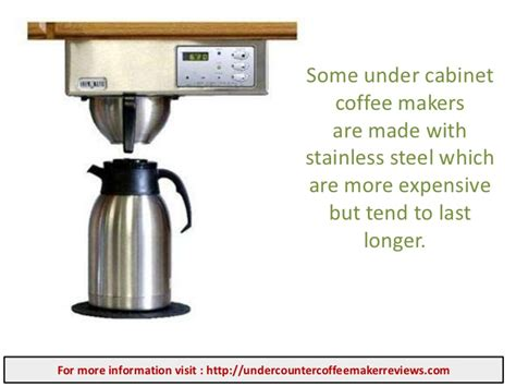small under cabinet coffee maker best under counter coffee maker