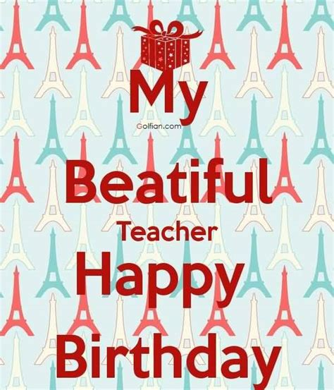 Quotes For Teachers Birthday Card