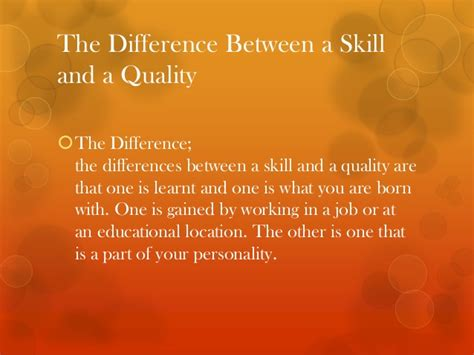 skills and qualities in command and