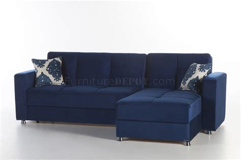 navy sectional sofa elegant roma navy sectional sofa convertible in fabric by