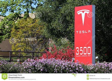 Tesla Palo Alto Headquarters Tesla Motors World Headquarters Editorial Stock Photo