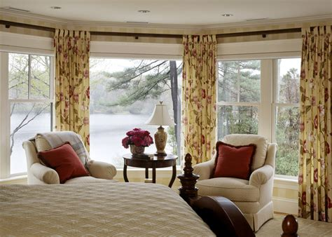 Master Bedroom Curtains Master Bedroom Curtains Bedroom Traditional With Arm Chairs Bay Window Beeyoutifullife