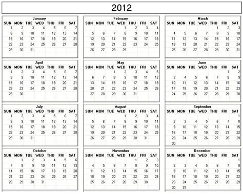 Calendar Of 2012 Calendar 2012 Your Title