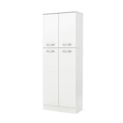 Pantry Doors Home Depot by South Shore Furniture 4 Door Wood Laminate Pantry