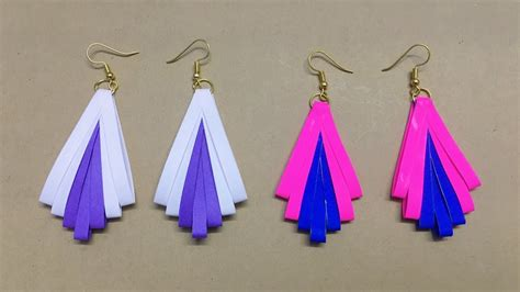 How To Make Paper Jewellery - how to make paper earrings paper jewellery
