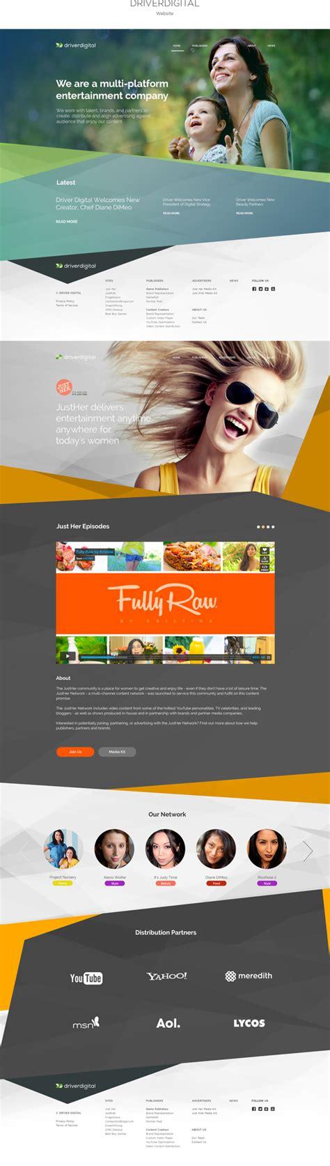 web layout behance driverdigital on behance on inspirationde