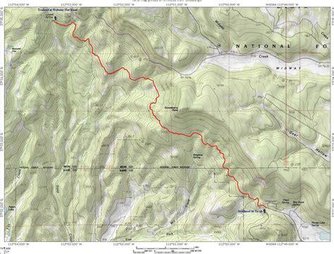map virgin river rim trail te ah trailhead  navajo