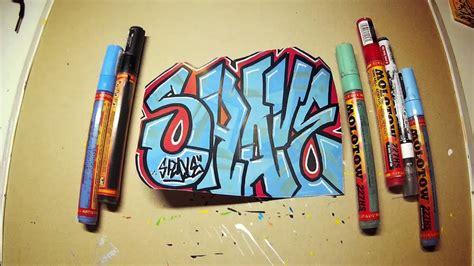 graffiti speedart  speedpaint shave blue red sticker