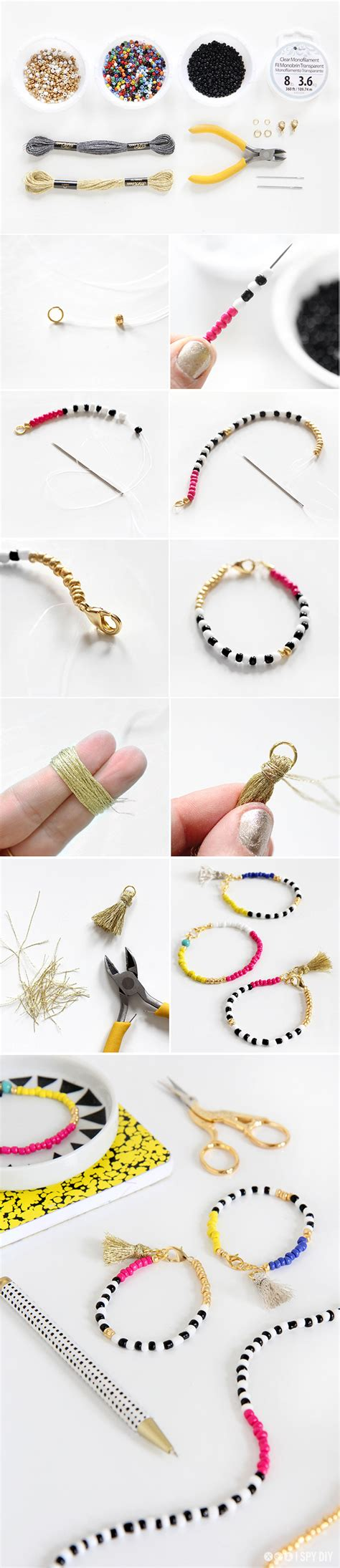 » MY DIY   Beaded Tassel Jewelry