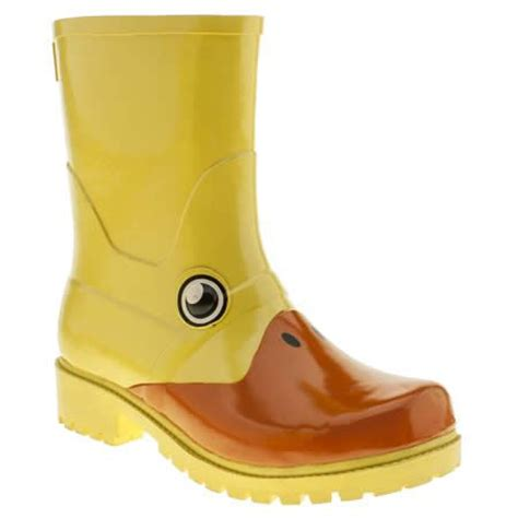 Jelly Shoes Cow Yellow Js10008 yellow boots duck boots and yellow on