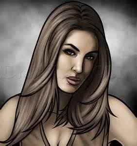 How to draw brie bella wwe a champion step by step sports pop