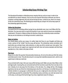 Scholarship Essay Introduction Exles 21 Essay Writing Exles