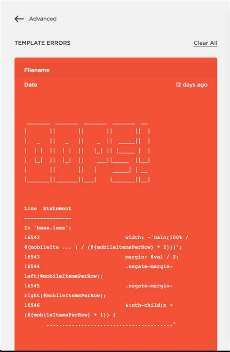 Error Reporting Squarespace Developers Impact Squarespace Template