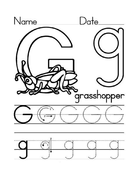 Letter G Worksheets by Trace Letter G Worksheets Activity Shelter