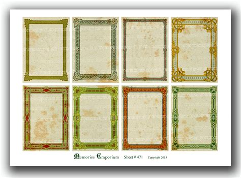 Are Borders Gift Cards Valid - victorian frame borders antique business cards vintage shabby chic aceo atc gift hang