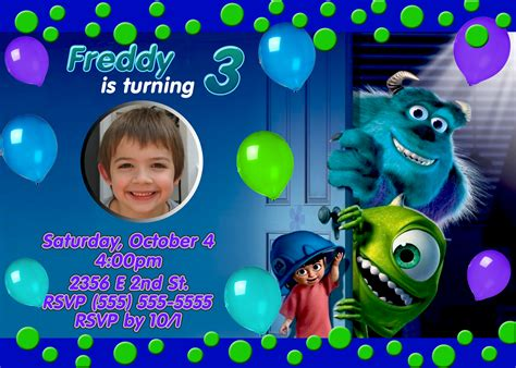monsters inc birthday invitations template best template