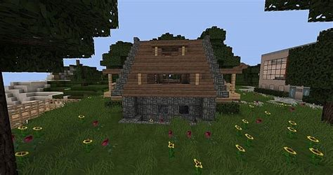 Keralis Cozy Cottage by Cozy Cottage Starter House Schematic Minecraft Project