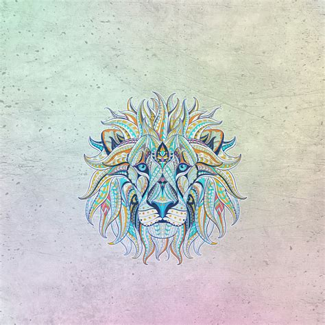 abstract lion face shaped design qhd wallpaper wallpaper