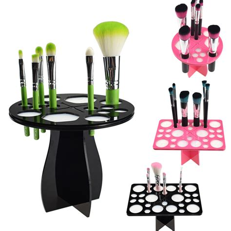 Paling Dicari Makeup Brush Drying Rack new makeup brushes holder stand collapsible air drying makeup brush organizing tower tree rack