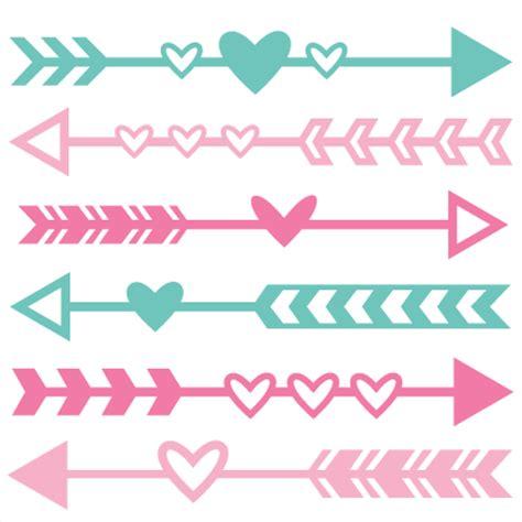valentines day arrow arrow set svg scrapbook cut file clipart