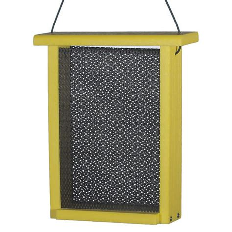 recycled mesh box finch bird feeder at brookstone buy now