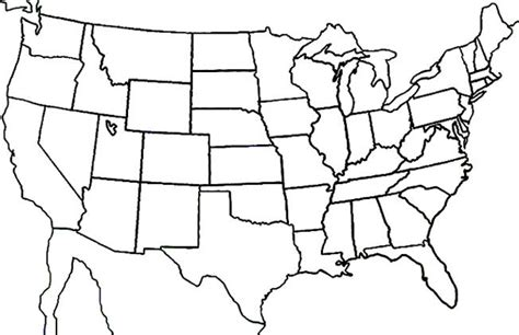 blanks usa templates blank states map dr