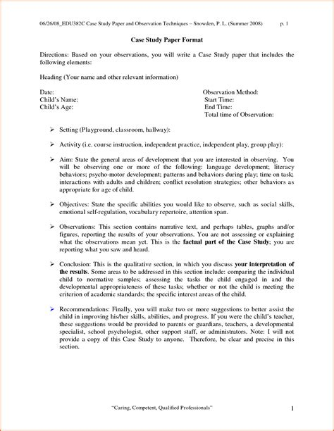 How To Write A Paper On A Case Study 12 Case Study Sample Paper Denial Letter Sample