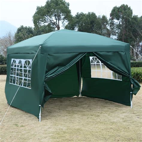 canopy tent with awning 10 x 10 ez pop up tent canopy gazebo