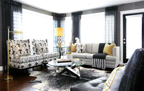 black grey and yellow living room black is back emerald interiors