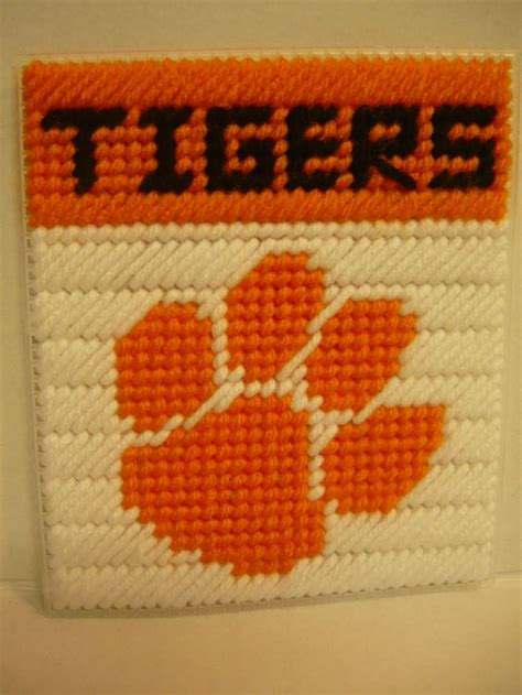 cross cleson clemson tigers cross stitch and stitches on