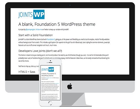 wordpress theme editor blank page jointswp a blank foundation 5 wordpress theme elite