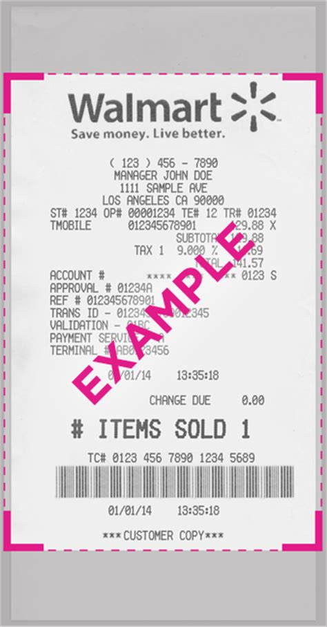 Walmart Receipt Template by 9 Best Images Of Walmart Receipt Template Walmart Money