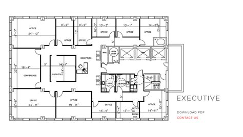 Executive Office Floor Plans | city place office floor plans