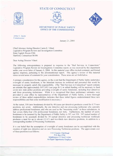 Support Letter For Bail Bail Services In Connecticut Report