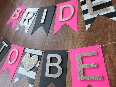 Kate Spade Party   Theme   Bride to Be Banner   Pink, Gold