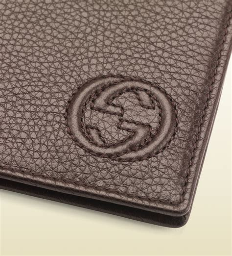 Soho Money Clip gucci soho leather money clip wallet in brown for lyst