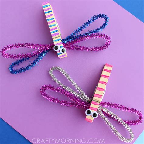 crafts using pipe cleaners how to make clothespin dragonflies craft crafty