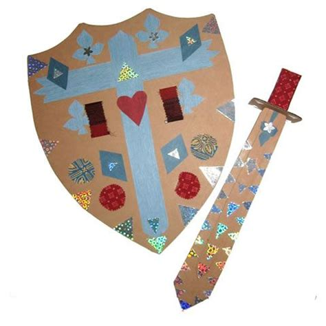 crown craft ks1 cardboard shield sword kids can decorate themselves