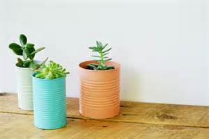 tin can planters easy diy tin can planters