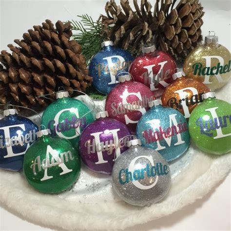 glitter ornament personalized glitter ornaments