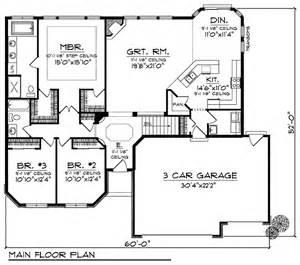 3 Bedroom 2 Bath 2 Car Garage Floor Plans by Economical Ranch 89304ah 1st Floor Master Suite