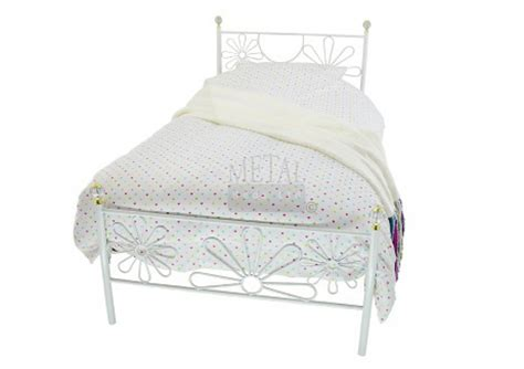 White Metal Single Bed Frame Metal Beds 3ft 90cm Single White Metal Bed Frame By Metal Beds Ltd