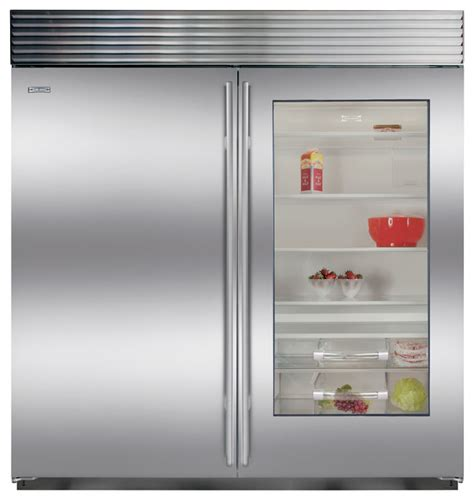 Glass Door Refrigerator And Freezer For Home Sub Zero 36 Quot Built In All Refrigerator With Glass Door Bi 36rg S Ph Los Angeles By