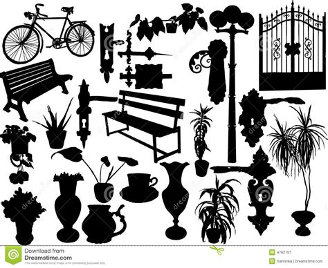 silhouettes  objects stock image image
