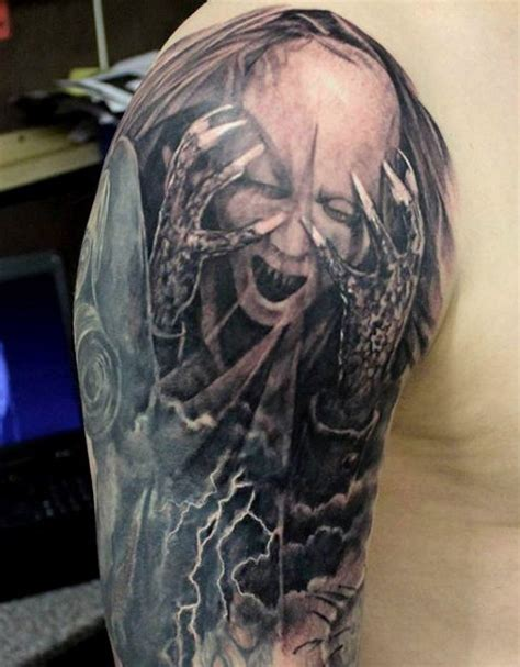 demon skull tattoos 90 tattoos for devilish exterior design ideas