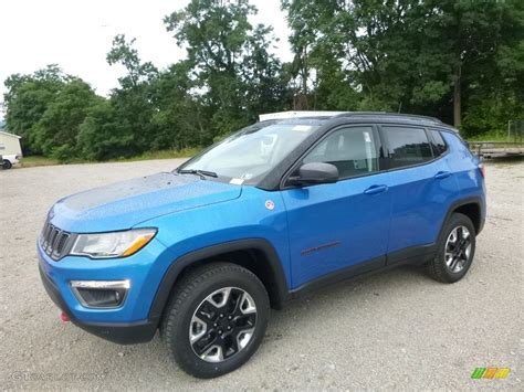 jeep compass limited blue 2018 laser blue pearl jeep compass trailhawk 4x4
